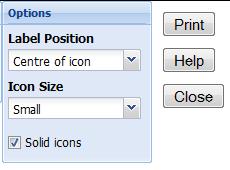 map print button